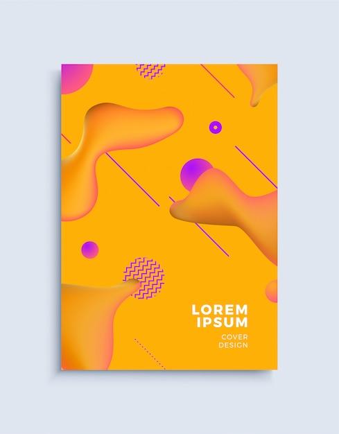 Modèle de conception de couverture abstraite moderne. Vecteur Premium