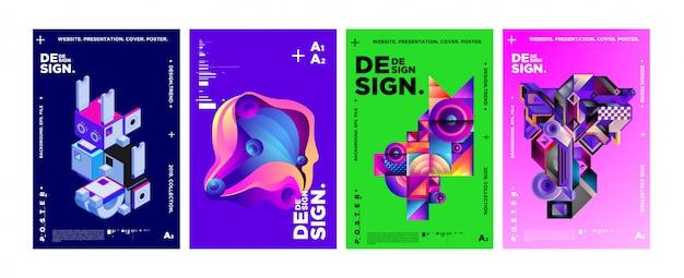 Modèle de conception de couverture et d'affiche pour le magazine Vecteur Premium