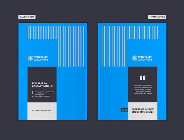Modèle de conception de couverture de brochure d'entreprise Vecteur Premium