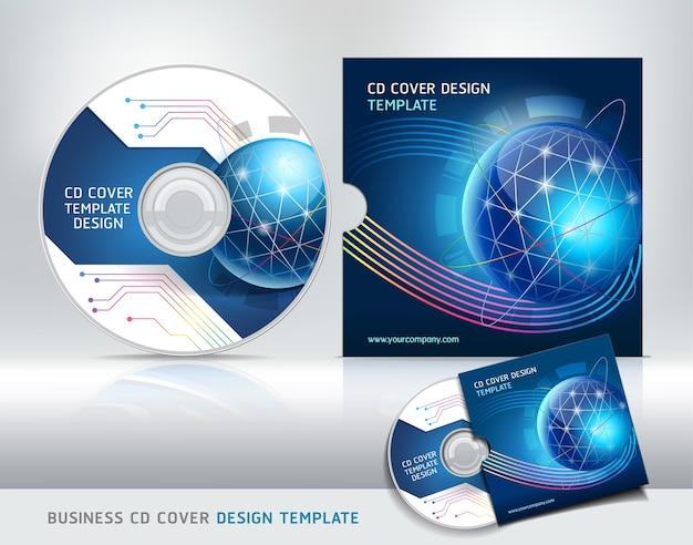 Modèle De Conception De Couverture De Cd. Fond Abstrait Vecteur Premium