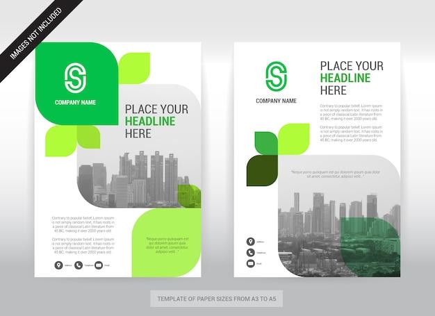 Modèle de conception de couverture d'entreprise de fond de ville. Vecteur Premium
