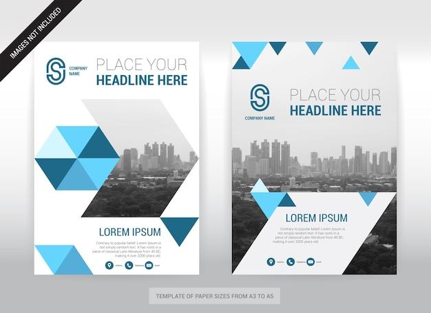 Modèle de conception de couverture d'entreprise de fond de ville Vecteur Premium