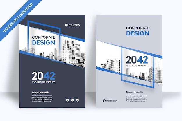 Modèle de conception de couverture de livre d'entreprise au format a4. Vecteur Premium