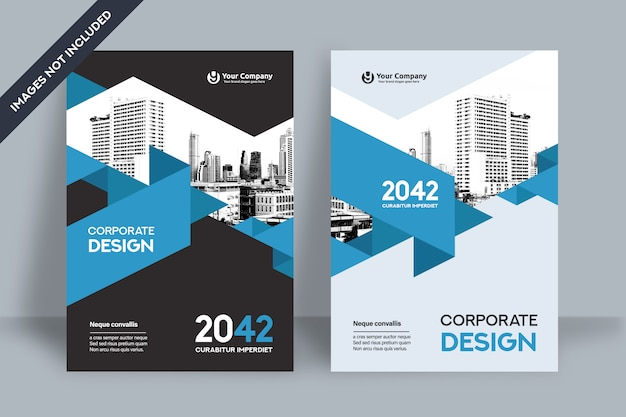 Modèle de conception de couverture de livre d'entreprise au format a4 Vecteur Premium