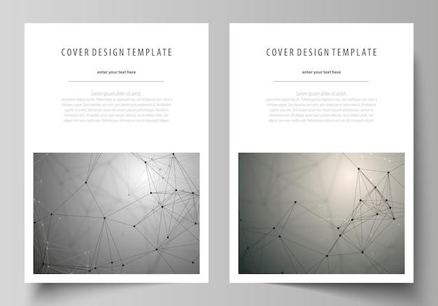 Modèle de conception de la couverture, mise en page au format a4. Vecteur Premium