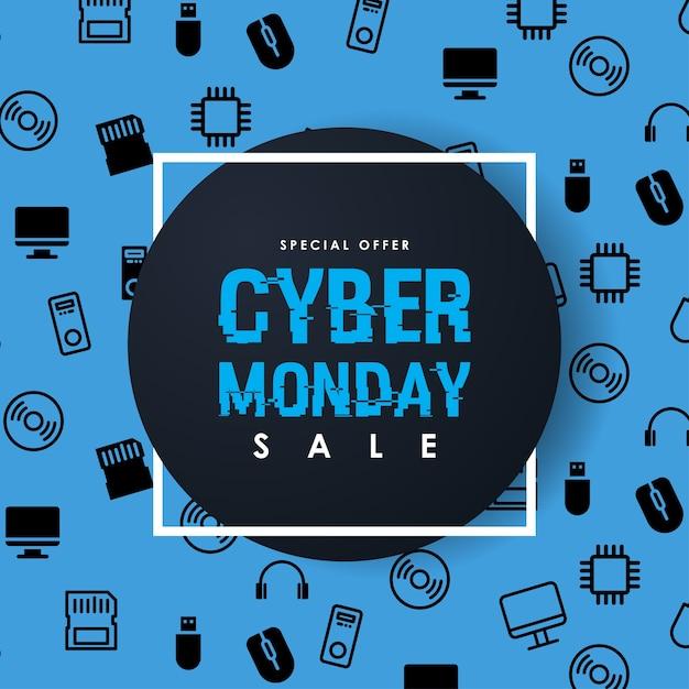 Modèle de conception cyber monday sale inscription Vecteur Premium