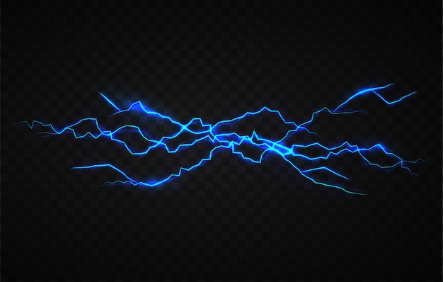 Modèle de conception d'effet visuel d'électricité réaliste Vecteur Premium