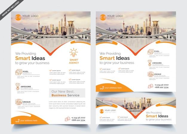 Modèle de conception d'entreprise Vecteur Premium