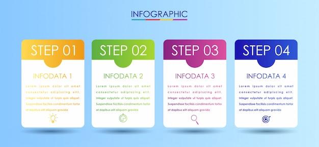 Modèle de conception d'étiquettes infographie vectorielle avec icônes Vecteur Premium