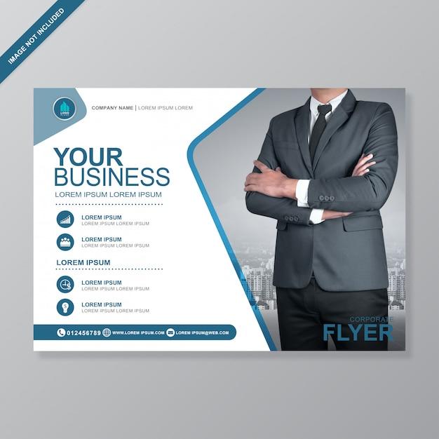 Modèle de conception de flyer a4 business cover Vecteur Premium