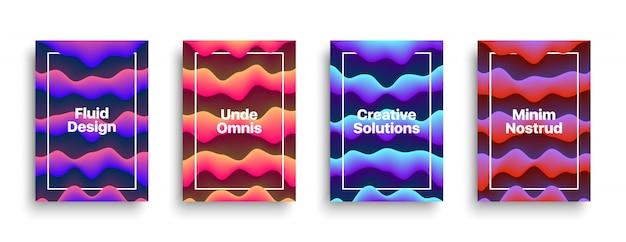 Modèle de conception de flyer brochure vecteur fluide Vecteur Premium