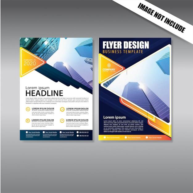 Modèle de conception flyer et brochure Vecteur Premium