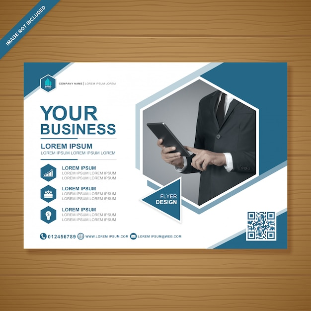 Modèle de conception de flyer métier Vecteur Premium
