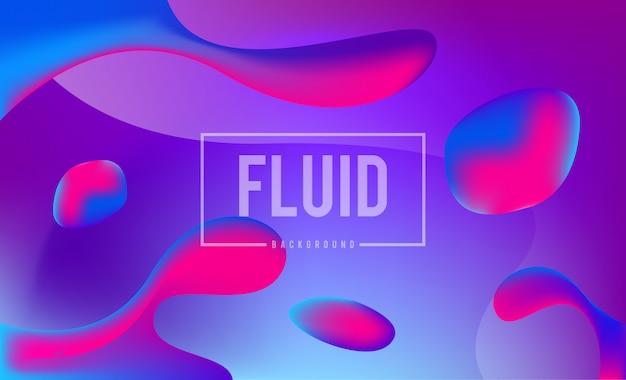 Modèle de conception de fond abstrait couleurs fluides dynamiques Vecteur Premium