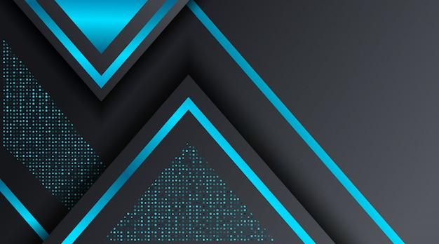 Modèle de conception de fond noir et bleu techno corporate business Vecteur Premium