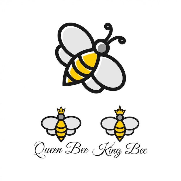 Modèle de conception graphique d'abeille Vecteur Premium