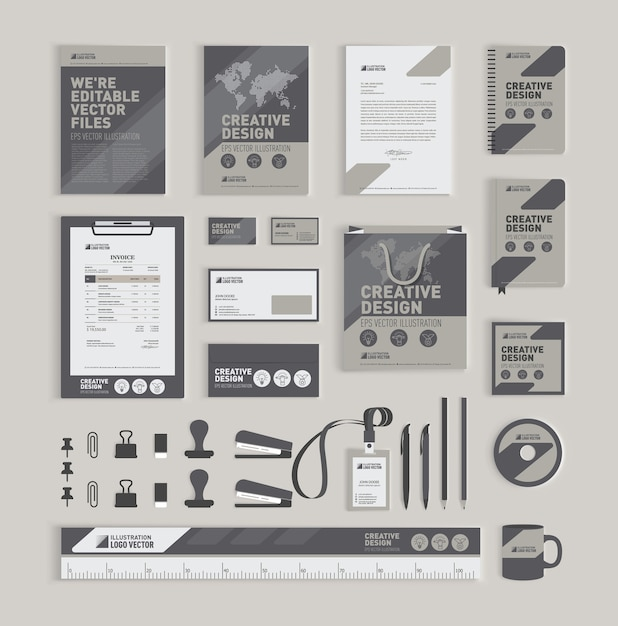 Modèle de conception d'identité géométrique Vecteur Premium