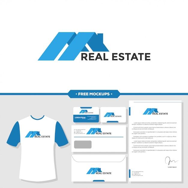 Modèle de conception immobilier maison icône graphique Vecteur Premium