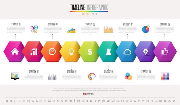 Modèle De Conception Infographie Chronologie Vecteur Premium
