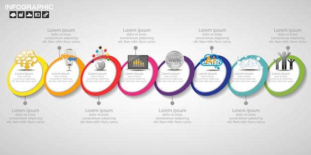 Modèle de conception infographie timeline Vecteur Premium