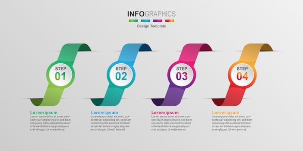 Modèle de conception infographique créatif Vecteur Premium