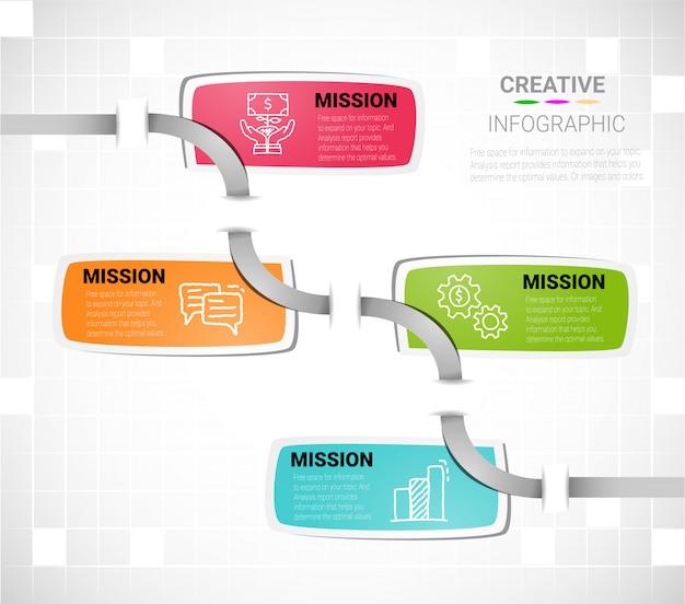 Modèle de conception infographique Vecteur Premium