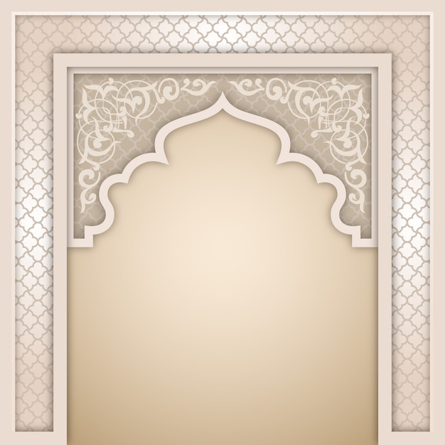 Modèle de conception islamique arch Vecteur Premium