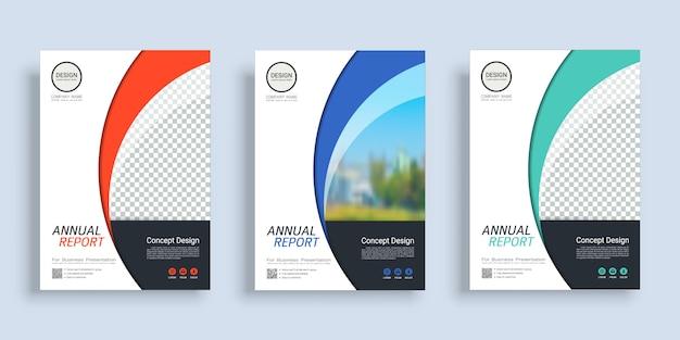 Modèle de conception de livre de couverture affiche avec un espace pour l'arrière-plan photo. Vecteur Premium