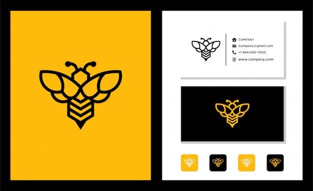 Modèle De Conception De Logo D'abeille Vecteur Premium