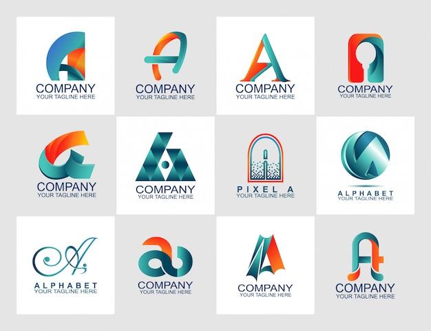 Modèle de conception avec logo abstrait Vecteur Premium