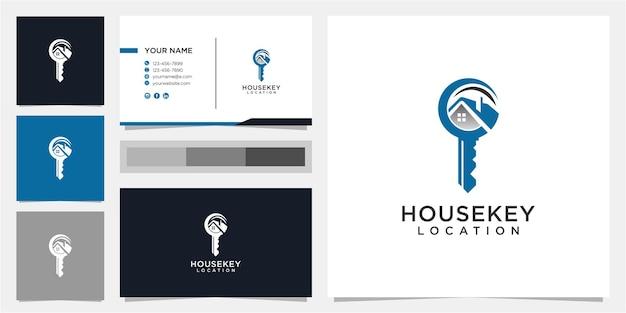 Modèle De Conception De Logo Creative House And Key Vecteur Premium