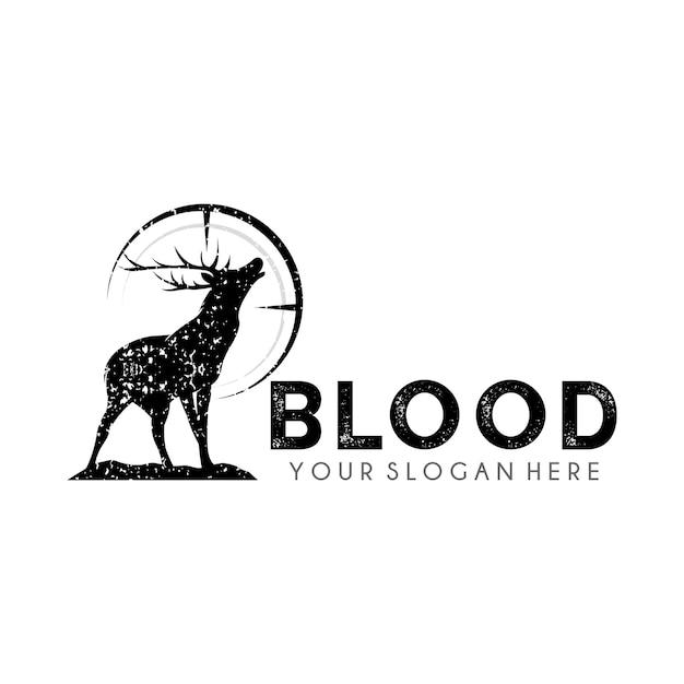 Modèle De Conception De Logo Deer Hunter Vecteur Premium