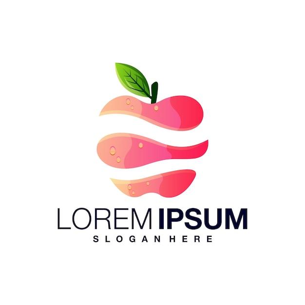 Modèle De Conception De Logo Dégradé Pomme Vecteur Premium