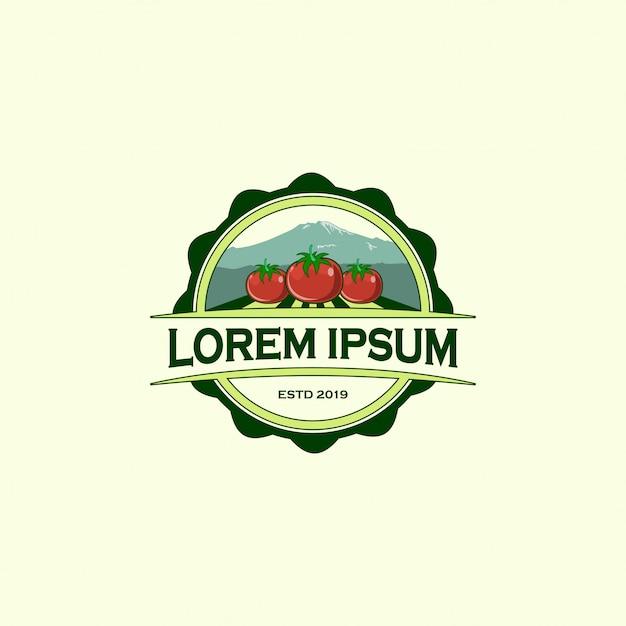 Modèle de conception de logo de ferme Vecteur Premium