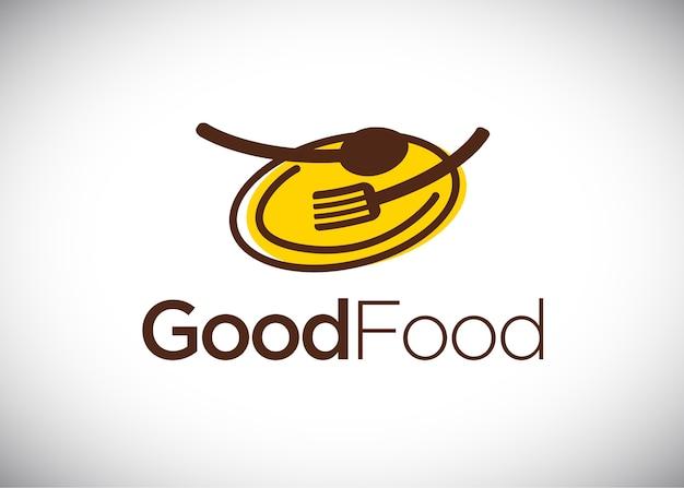 Modèle de conception de logo good food Vecteur Premium