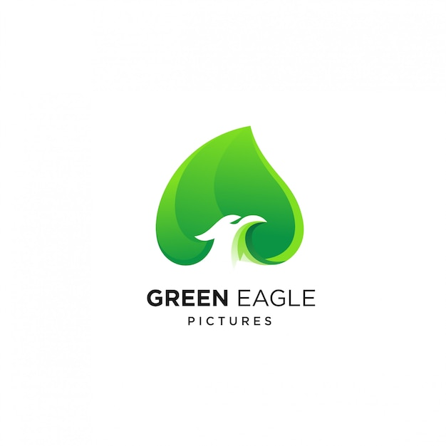 Modèle De Conception De Logo Green Eagle Vecteur Premium