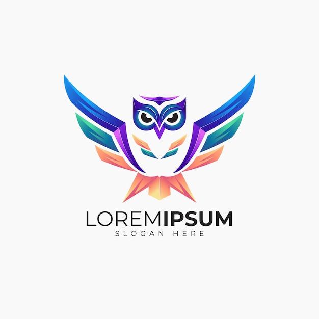 Modèle de conception de logo hibou génial pour les entreprises Vecteur Premium
