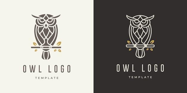 Modèle De Conception De Logo De Hibou Vecteur Premium