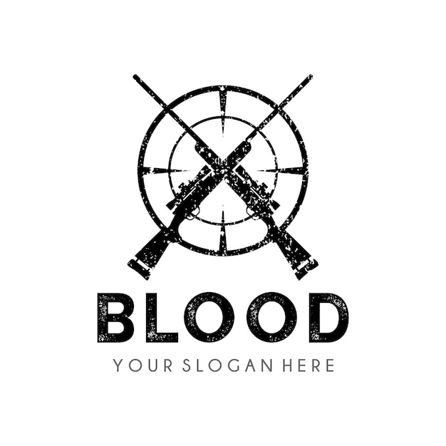 Modèle De Conception De Logo Hunter Vecteur Premium