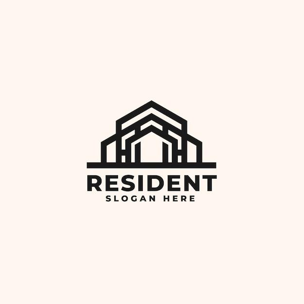 Modèle De Conception De Logo Immobilier - Logo De Bâtiment De Construction Et D'architecture Vecteur Premium