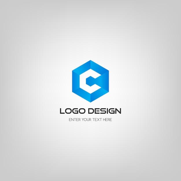Modèle de conception de logo de lettre c moderne. Vecteur Premium