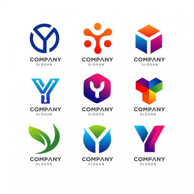 Modèle de conception de logo lettre y Vecteur Premium