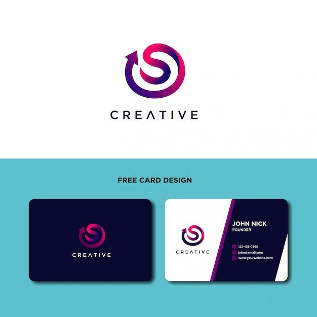 Modèle de conception de logo moderne lettre s Vecteur Premium