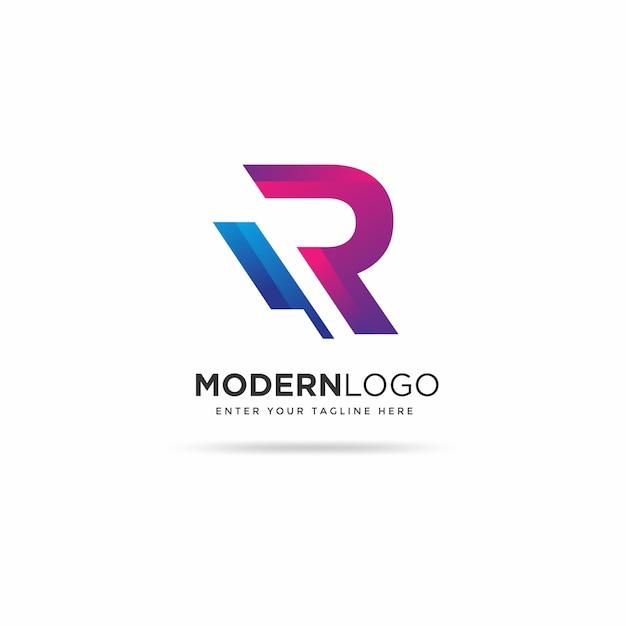 Modèle De Conception De Logo Moderne R Vecteur Premium