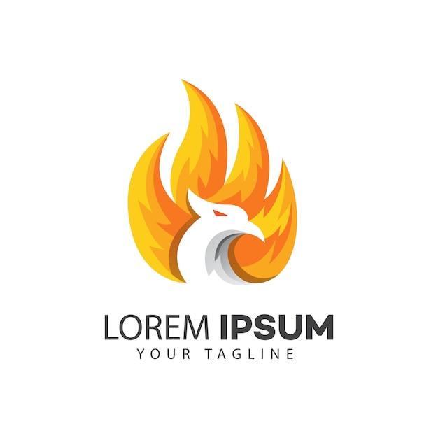 Modèle De Conception De Logo Oiseau Vecteur Premium