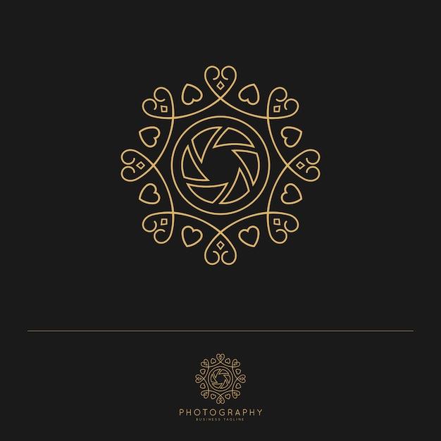Modèle De Conception De Logo De Photographie. Vecteur Premium