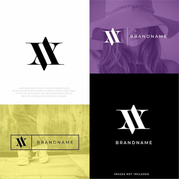 Modèle de conception de logo va av Vecteur Premium