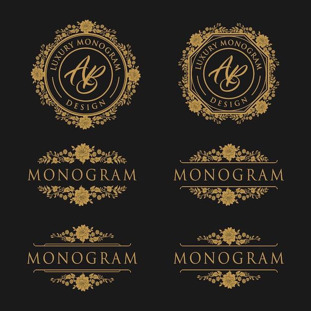 Modèle de conception de luxe pour mariage et décoration Vecteur Premium