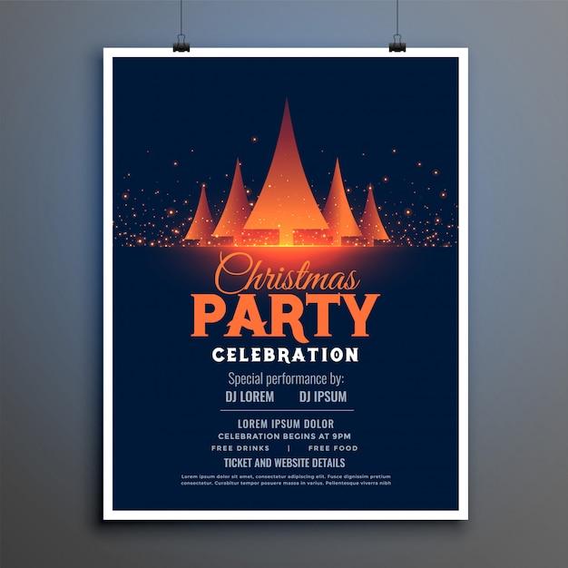 Modèle de conception magnifique flyer fête de noël fête Vecteur gratuit