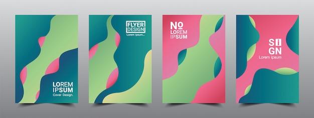 Modèle de conception de mise en page de couvertures abstraites moderne 4 Vecteur Premium